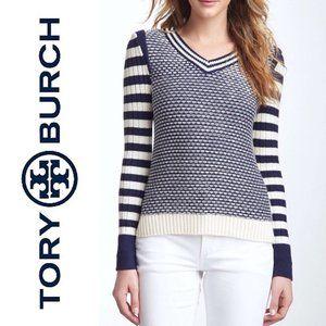 Tory Burch Crochet Tunic Knit Sweater